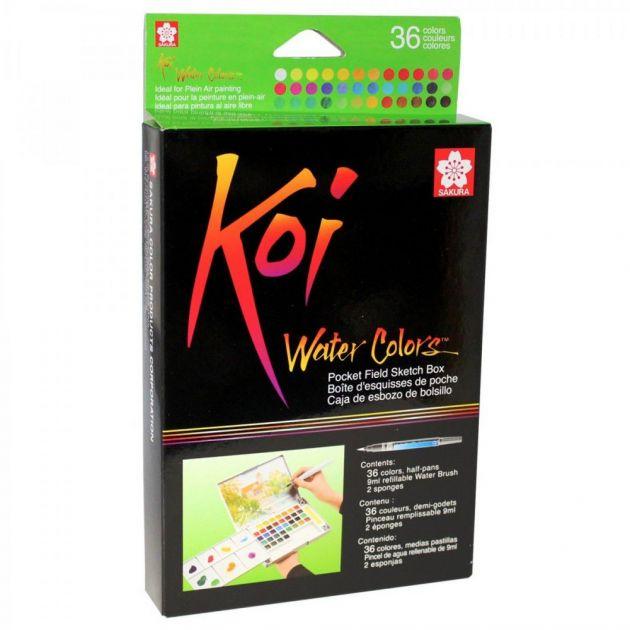Aquarela em pastilha - Koi 36 cores