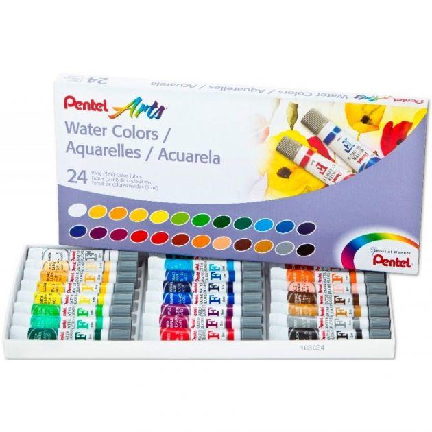 Aquarela Pentel Profissional - WFRS 24 Cores