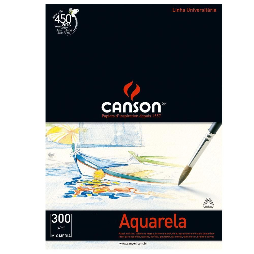 Bloco Canson Aquarela 300gm - A3
