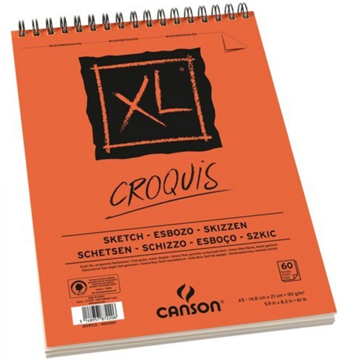 Bloco Canson XL Croquis - A5 Espiral