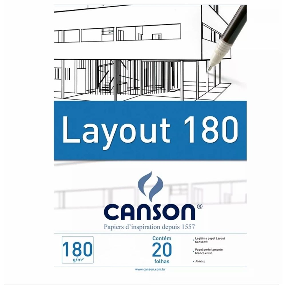 Bloco Canson Layout 180gm Branco - A4