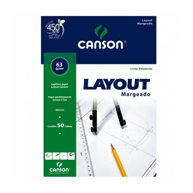 Bloco Canson Layout 63gm - A3+