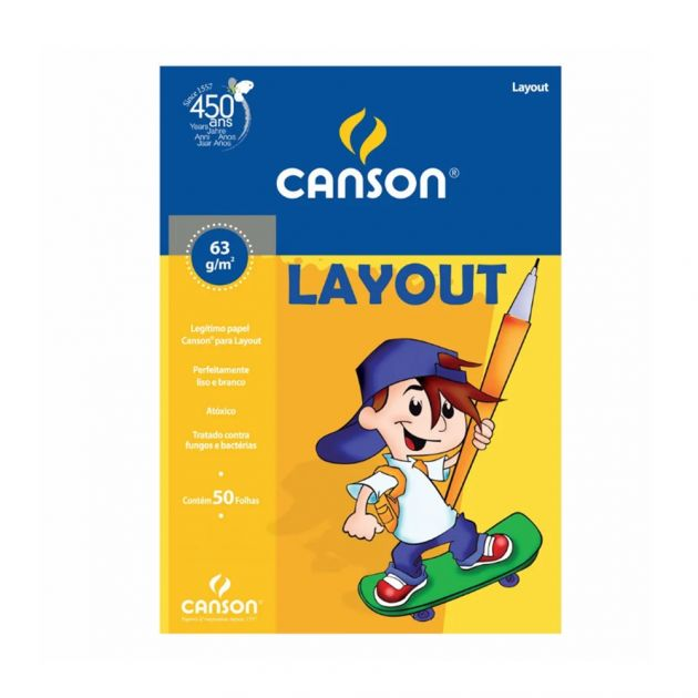 Bloco Canson Layout 63gm - A4