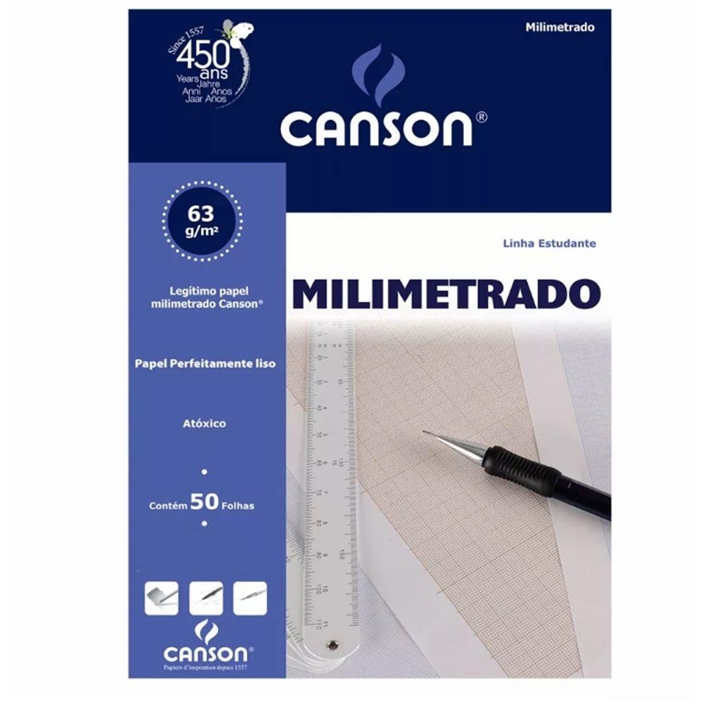 Bloco Canson Milimetrado 63gm - A4