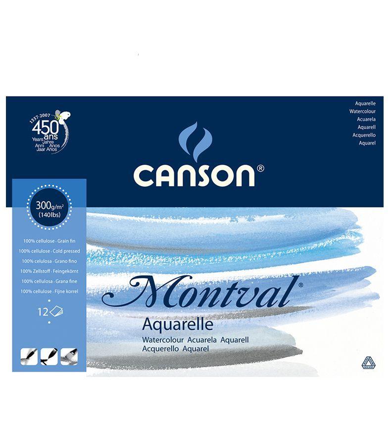 Bloco Canson Montval Aquarela 300gm - A3