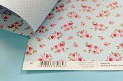 Papel Scrap Craft Ideias Floral Azul Claro - 0901