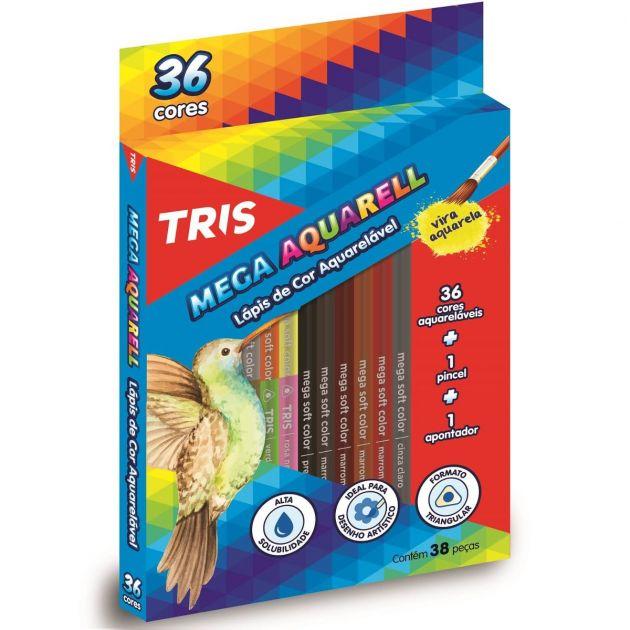 Lápis Aquarelável Tris - 36 Uni