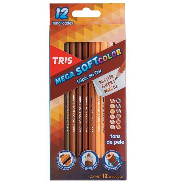 Lápis Permanente Tris - Tons de pele 12 uni