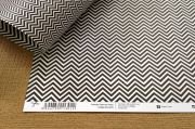 Papel Scrap Luxo Chevron Preto