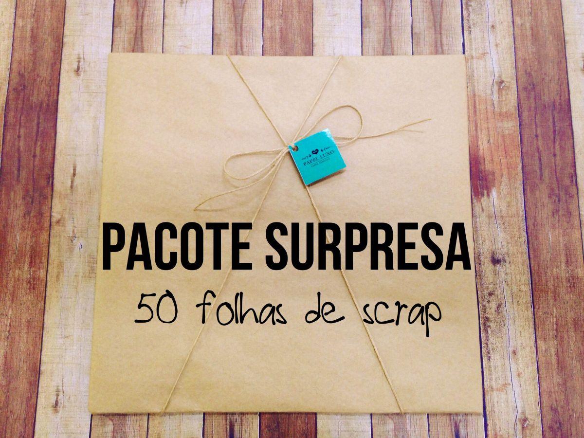 Pacote Surpresa- 50 folhas de SCRAP