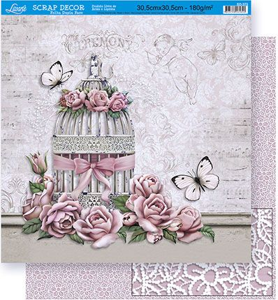 Papel de Scrap Litoarte - SD-373