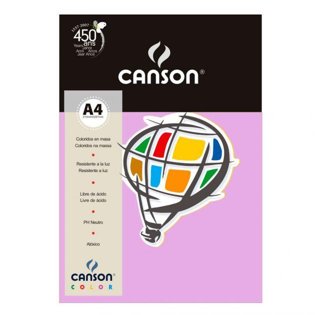 Papel Canson Violeta A4 180gm - Unidade